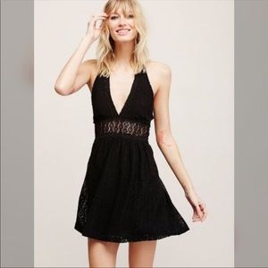 Free People So Sweetly Halter Lace Dress